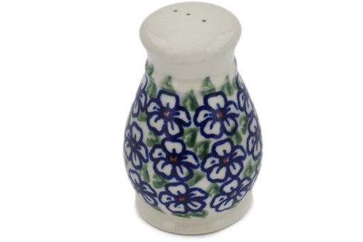 "Polish Pottery Pepper Shaker 3"" Flower Bouquet Theme"