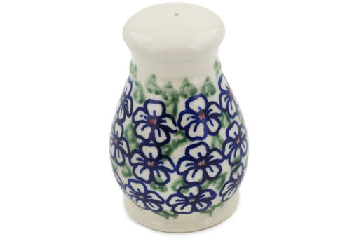 "Polish Pottery Salt Shaker 3"" Flower Bouquet Theme"