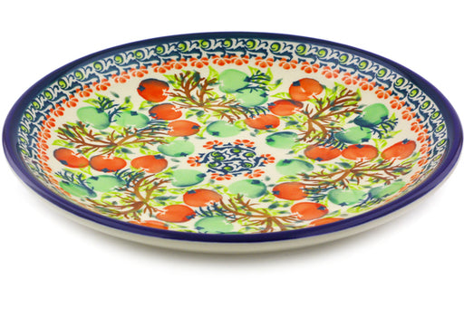 "Polish Pottery Plate 8"" Red And Green Berries Theme"