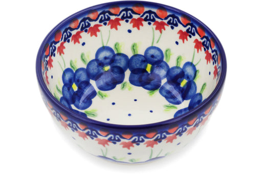 "Polish Pottery Bowl 5"" Passion Poppy Theme"