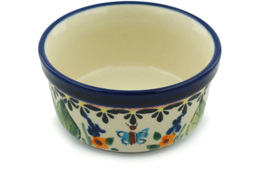 "Polish Pottery Bowl 4"" Spring Splendor Theme UNIKAT"