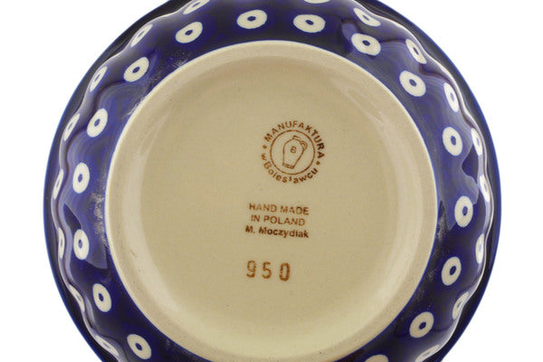 "Polish Pottery Bowl 6"" Mosquito Theme"