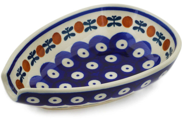 "Polish Pottery Spoon Rest 5"" Mosquito Theme"