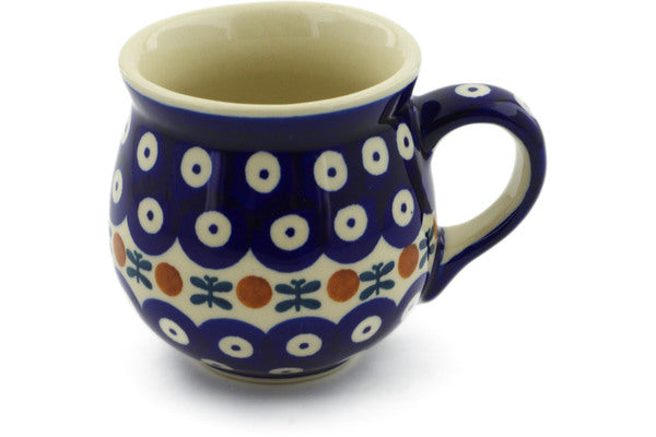 Polish Pottery Bubble Mug 8 oz Mosquito Theme