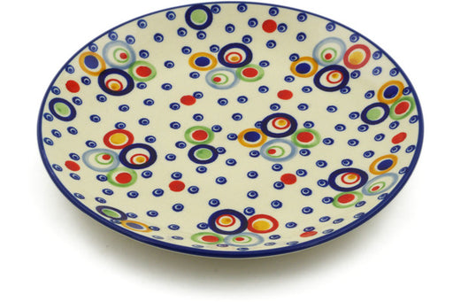"Polish Pottery Plate 8"" Bubble Machine Theme UNIKAT"