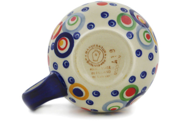 Polish Pottery Bubble Mug 10 oz Bubble Machine Theme UNIKAT