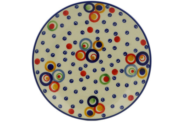 "Polish Pottery Plate 7"" Bubble Machine Theme UNIKAT"
