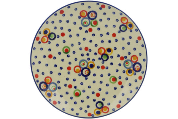 "Polish Pottery Plate 10"" Bubble Machine Theme UNIKAT"