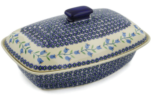 "Polish Pottery Baker with Cover 13"" Sweet Dreams Theme"