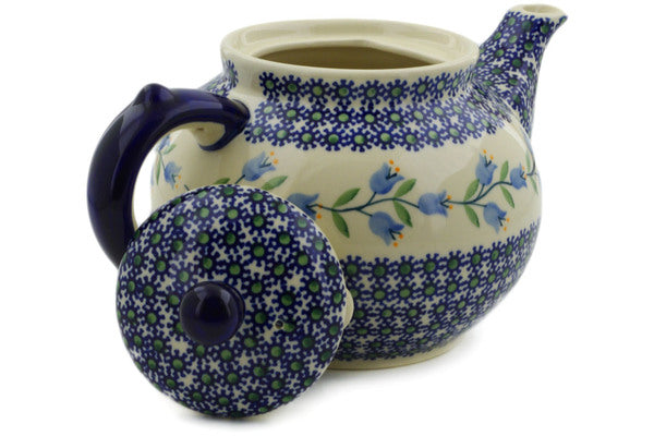 Polish Pottery Tea or Coffee Pot 47 oz Sweet Dreams Theme