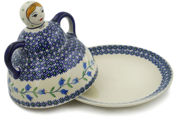 "Polish Pottery Cheese Lady 7"" Sweet Dreams Theme"