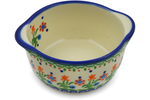 Polish Pottery Bouillon Cup 11 oz Spring Flowers Theme
