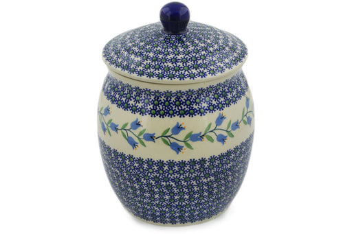 "Polish Pottery Jar with Lid 9"" Sweet Dreams Theme"