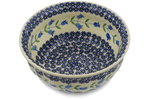 "Polish Pottery Fluted Bowl 8"" Sweet Dreams Theme"