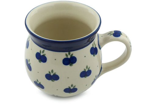 Polish Pottery Bubble Mug 16 oz Wild Blueberry Theme