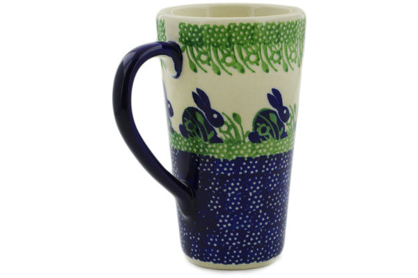 Polish Pottery Mug 13 oz Hare In Tall Grass Theme