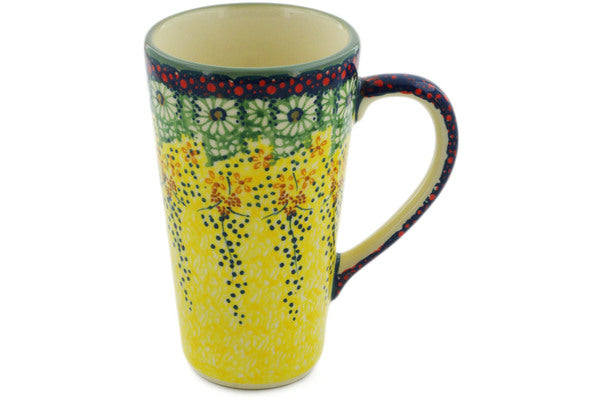 Polish Pottery Mug 13 oz Sunshine Grotto Theme UNIKAT