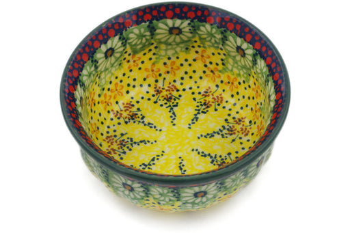"Polish Pottery Bowl 4"" Sunshine Grotto Theme UNIKAT"