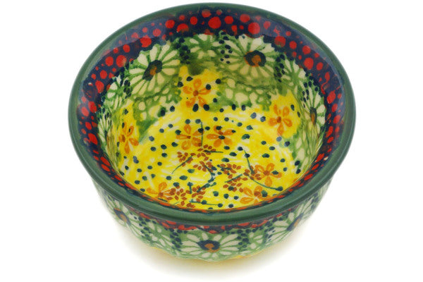 "Polish Pottery Bowl 3"" Sunshine Grotto Theme UNIKAT"
