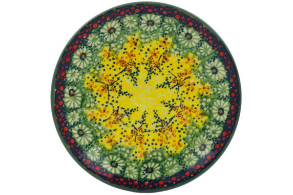 "Polish Pottery Plate 7"" Sunshine Grotto Theme UNIKAT"
