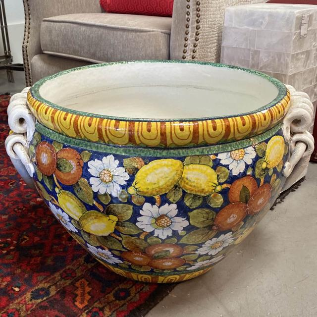 Handpainted Italian Planter 25x15x25 - Kiss It Good Buy