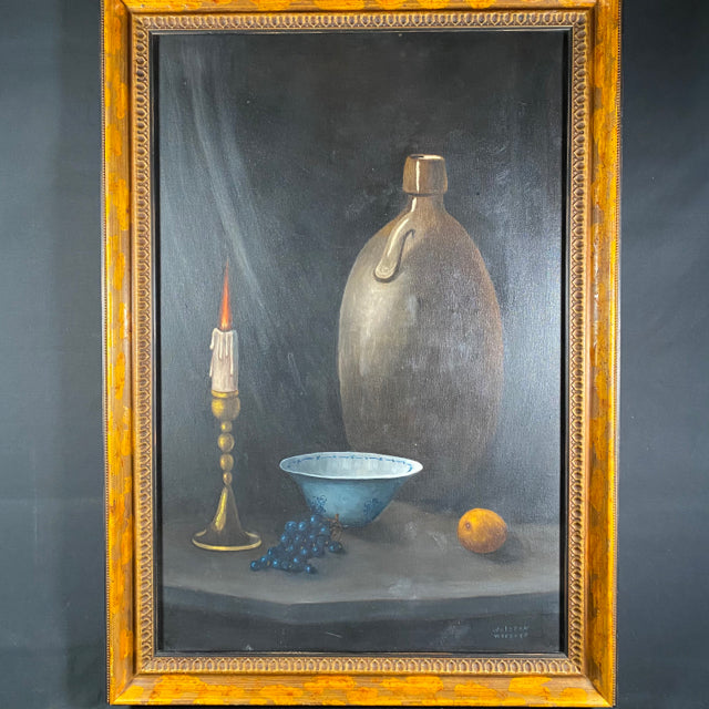 Signed Framed Still Life Oil Painting 30x42