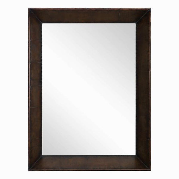 Revelation Soloman  Deep Profile Mirror With Aged Copper Cladding 30W X 40H X 6D