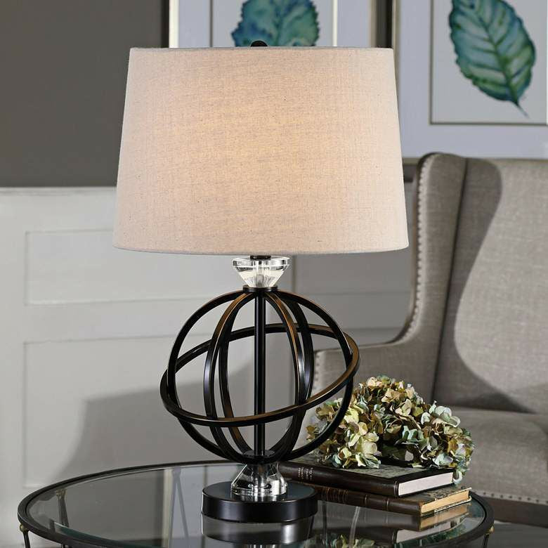 "Uttermost Armilla Orb Table Lamp 25"" NEW"