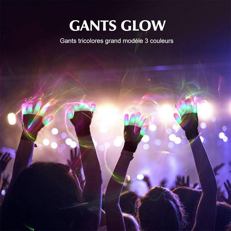 Gants LED Finger Lights 3 Couleurs 6 Modes - ciaovie