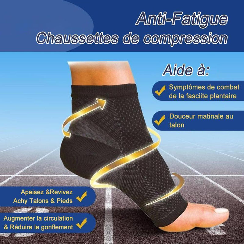 Lot de 2 Chaussettes de Contention Anti-fatigue - ciaovie