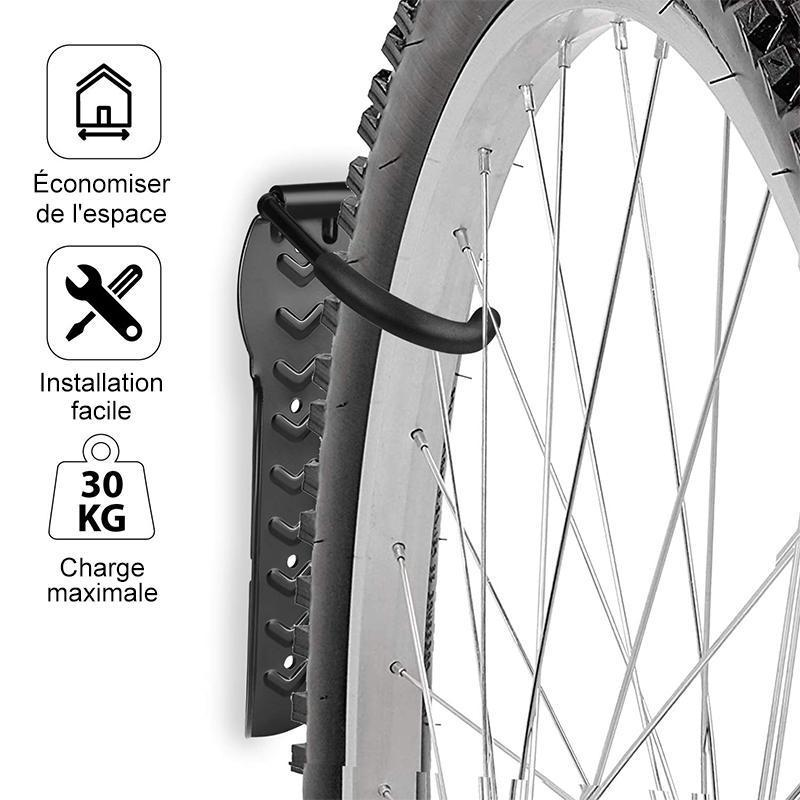 Support De Rangement Pour Bicyclettes Ajustable Suspension À Mur Vertical