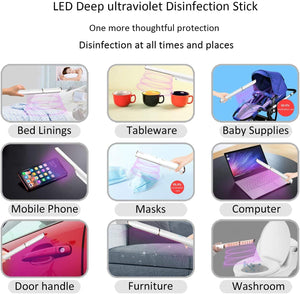 UV-C Multipurpose Portable Wand | 18-pc UV LED Lamp Beads