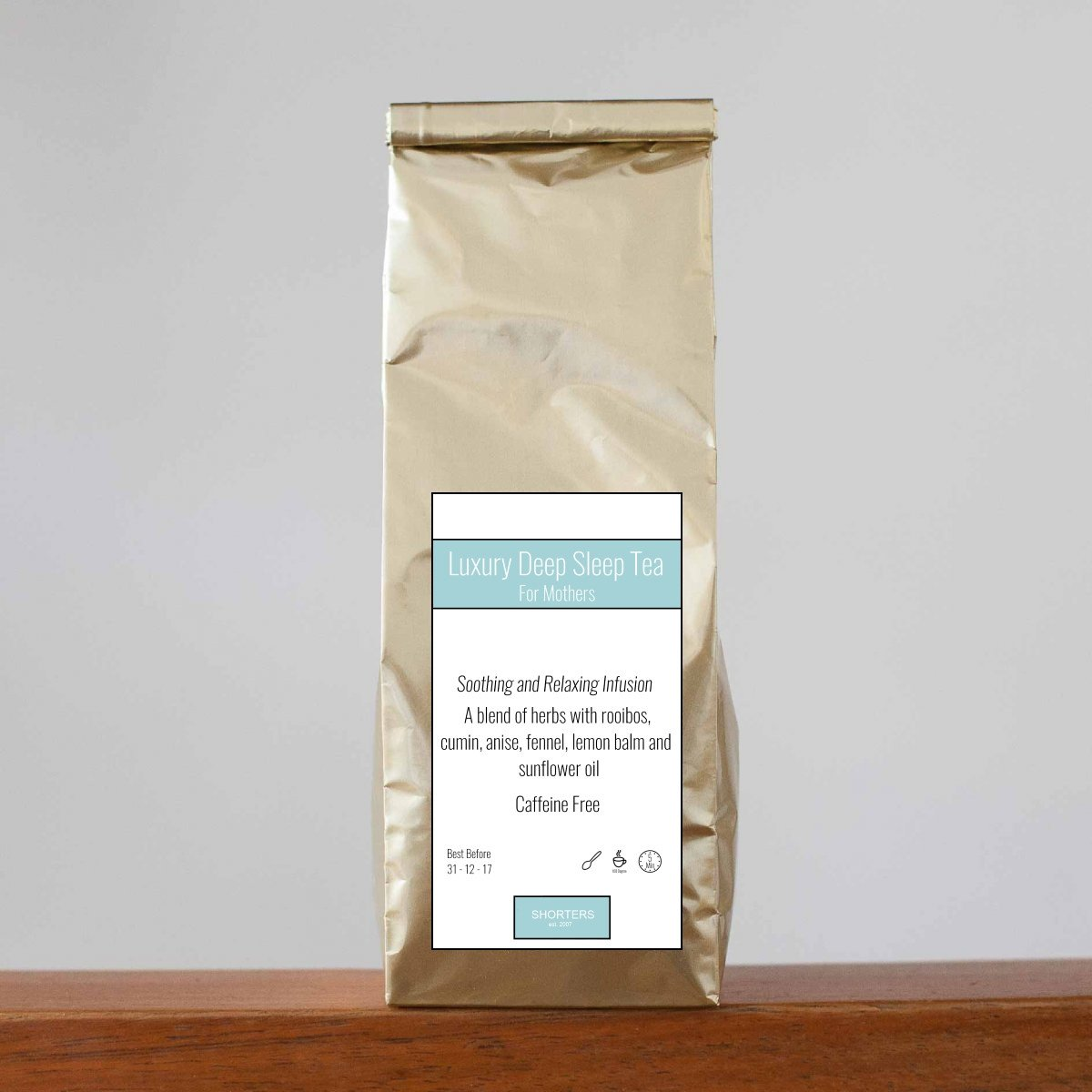 Shorters Luxury Sleep Tea 100g Complete with Stainless Tea Infuser