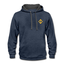 Load image into Gallery viewer, Binance Fan Hoodie - indigo heather/asphalt