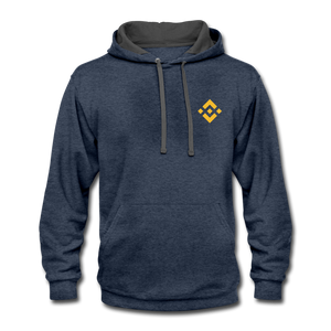 Binance Fan Hoodie - indigo heather/asphalt