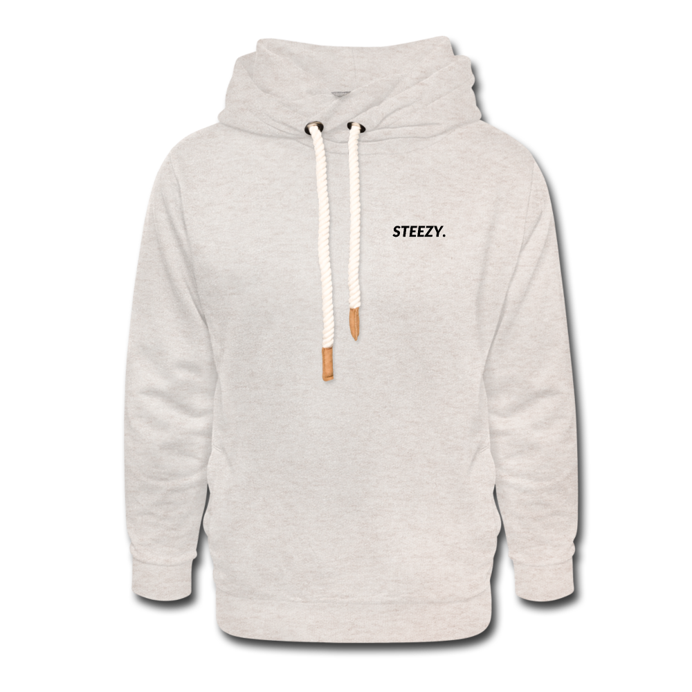 STEEZY. Shawl Collar Hoodie - heather oatmeal