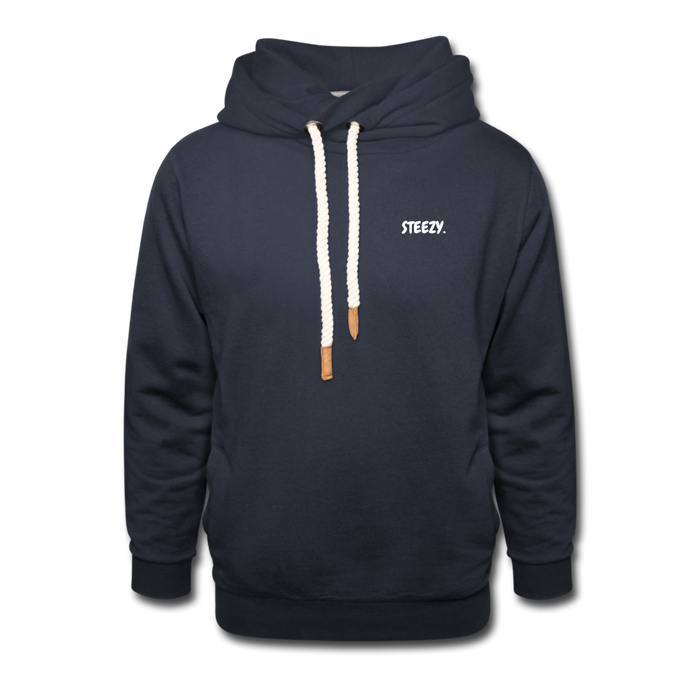 STEEZY. Shawl Collar Hoodie - navy