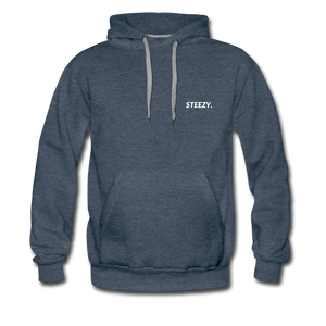 STEEZY. Heavyweight Hoodie - heather denim