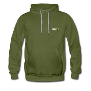 STEEZY. Heavyweight Hoodie - olive green