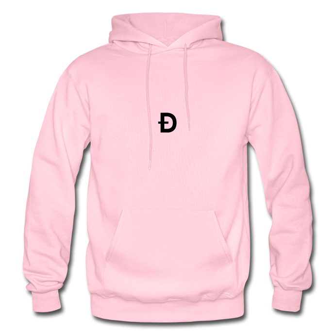 Dogecoin Centered Hoodie - light pink