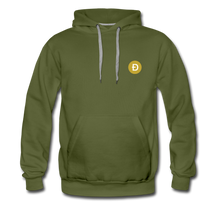 Load image into Gallery viewer, Dogecoin Hoodie - olive green