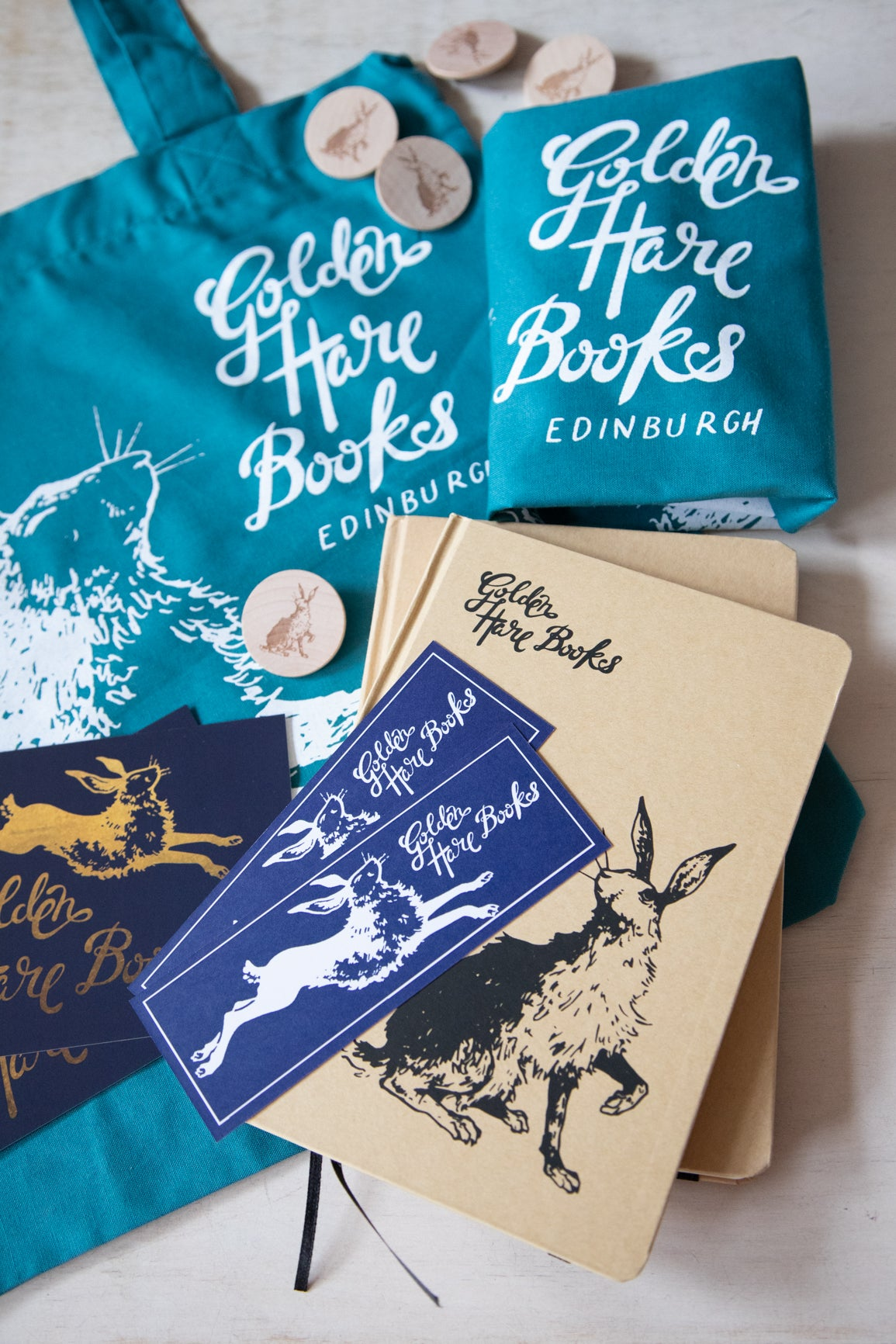 Golden Hare Books merch bundle