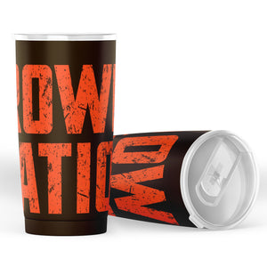 Browns Nation Tumbler