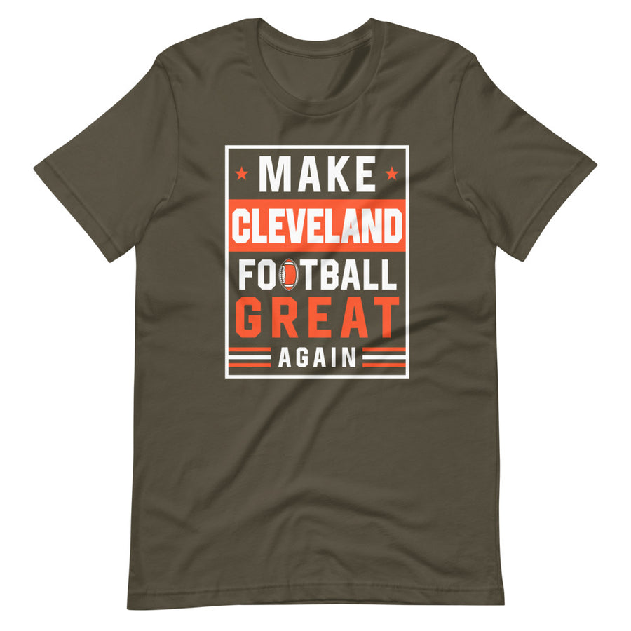 Make Cleveland Football Great Again T-Shirt