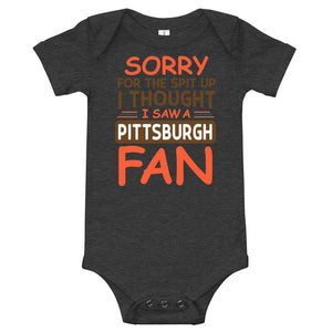 Sorry For The Spit Up Cleveland Onesie