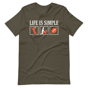Life Is Simple Cleveland Football T-Shirt