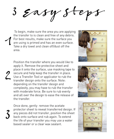 Three easy steps to apply decor transfers