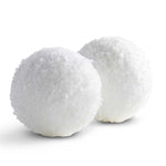 4inch round textured snowball ornaments