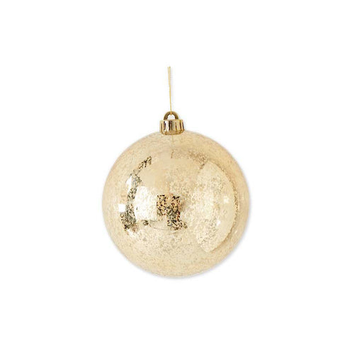 7 Inch Gold Mercury Shatterproof Round Ornament
