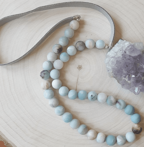 Amazonite on Vegan Suede Necklace - Nest Gifts